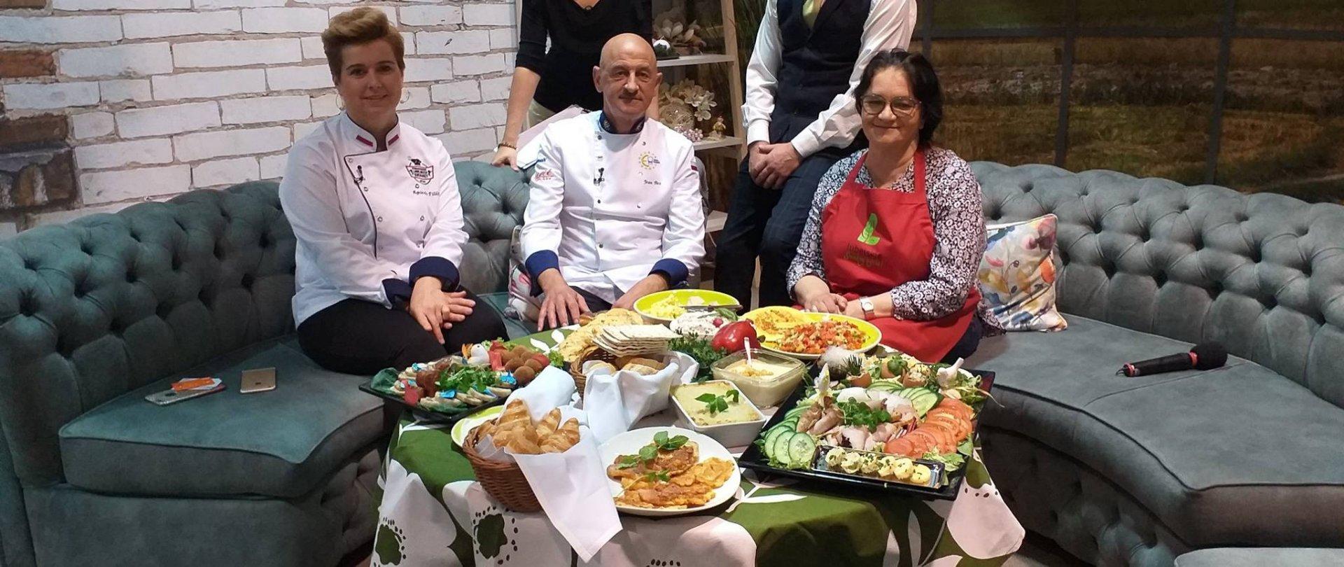 Szef Kuchni Hotelu AGIT Jean Bos na Europejskim Dniu Śniadania w TVP Lublin