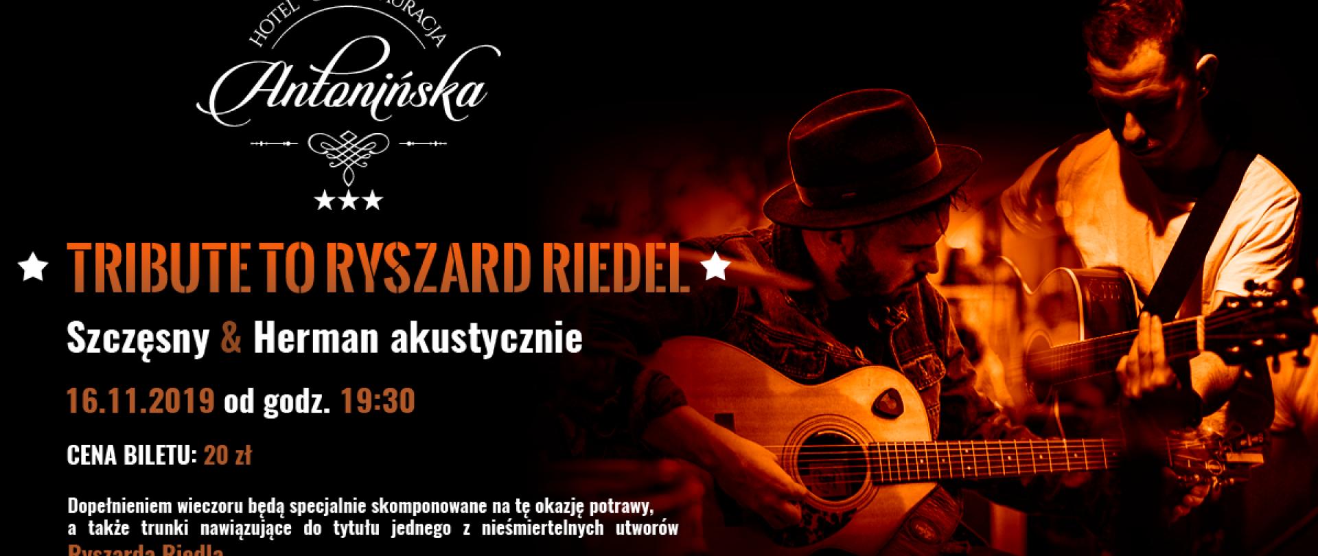 Tribute to Ryszard Riedel - Szczęsny & Herman acustic