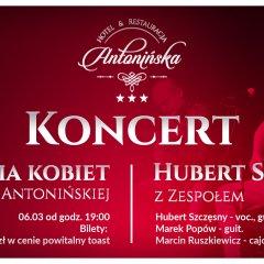 Koncert z okazji Dnia Kobiet - Hubert Szczęsny z zespołem
