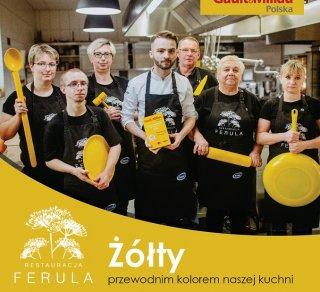 Żółty przewodnim kolorem naszej kuchni