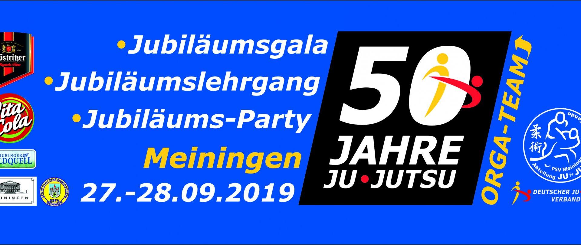 50 Jahre JU-JUTSU in Deutschland - Jubiläumsgala - Jubiläumslehragng und Disco-Party
