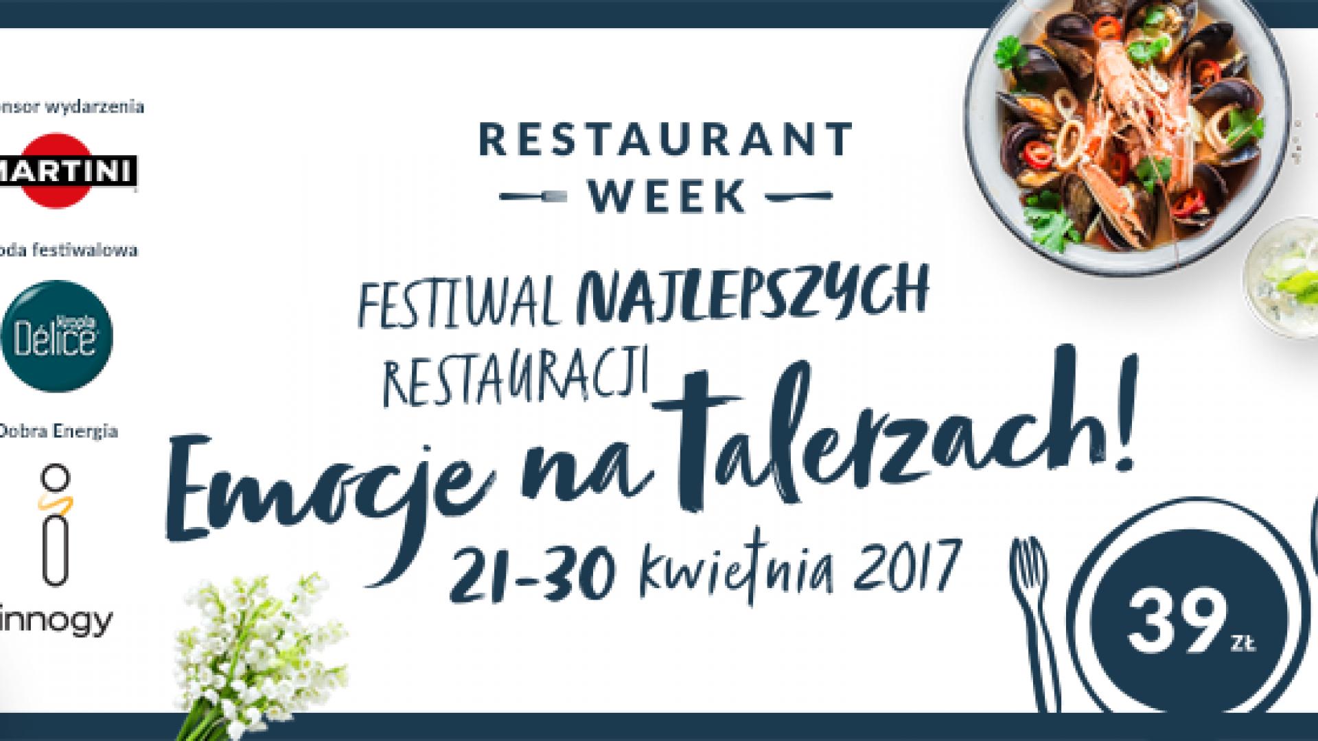 Wiosenna edycja Restaurant Week Polska - 21-30 kwietnia 2017r.