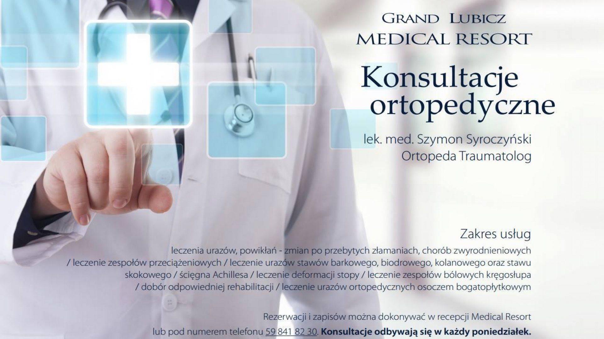 Wprowadzamy konsultacje ortopedyczno-traumatologiczne