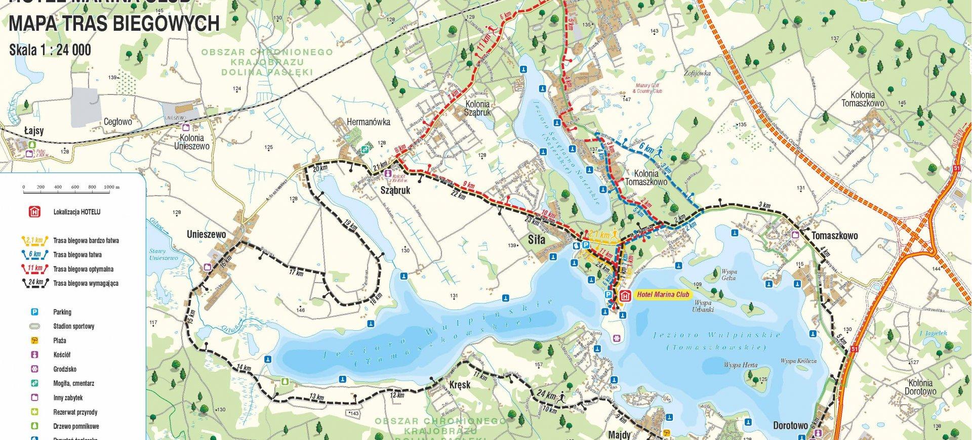 Трассы для бега на Вульпинском полуострове