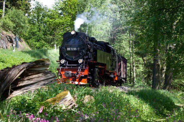 Ride on the Brockenbahn railway