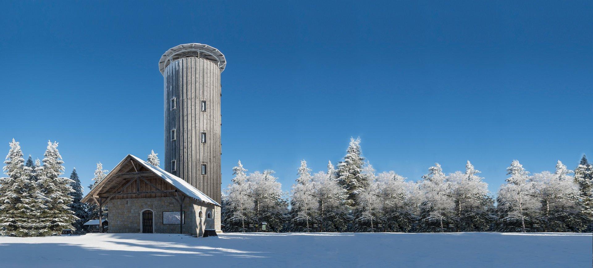 Wieża na G. Borówkowej