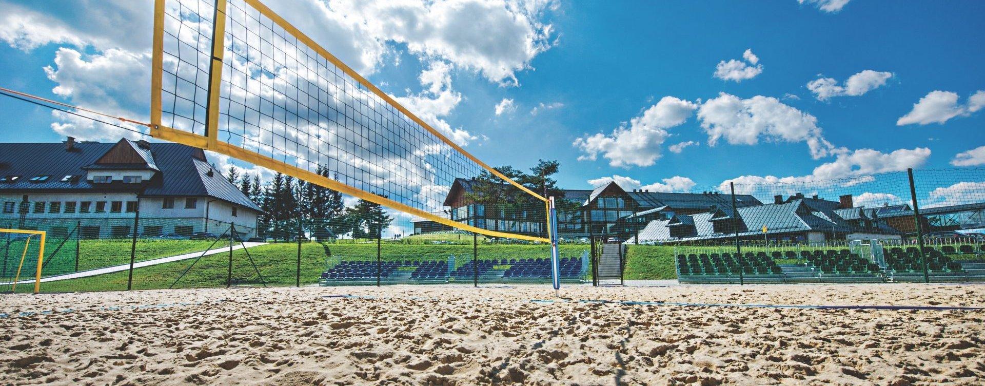Mega piaskownica, boisko do siatkówki plażowej