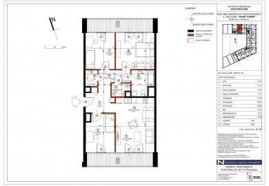 Nr. 10. Apartament 88m2, 4-pokoje, 2 łazienki, 2 tarasy po 10m2