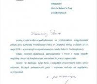 2018-06-06 - Podziękowanie Komenda Wojewódzka Policji w Olsztynie