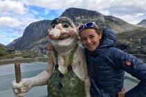Nasza Ambasadorka na podium Stranda Fjord Trail Race