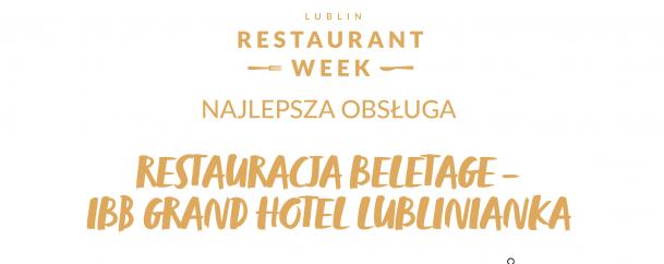 Nasza Restauracja BelEtage ma najlepszą obsługę w Polsce!