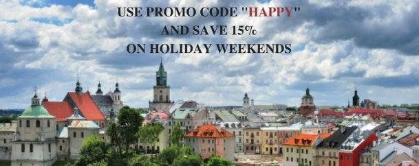 Spend a weekend in Lublin- save 15%!